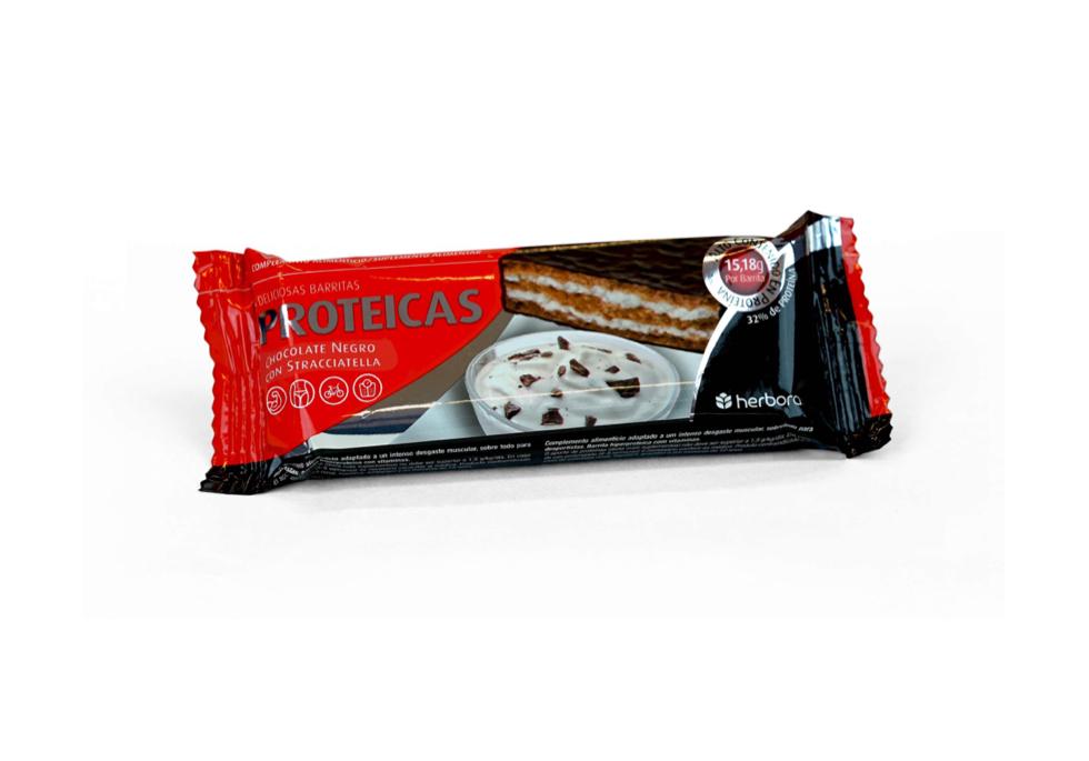 Barrita proteica chocolate negro stracciatella