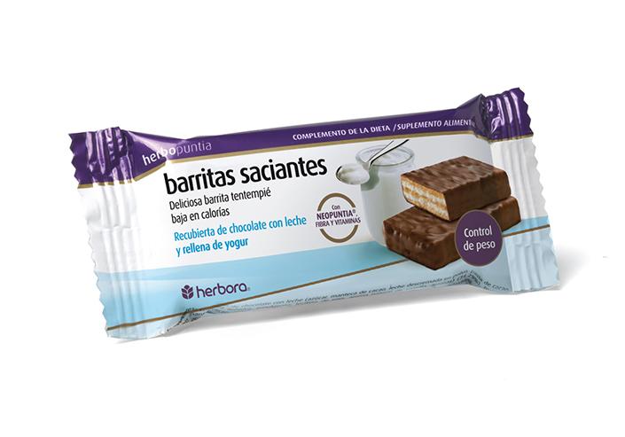 Herbopuntia barritas chocolate con leche y yogur
